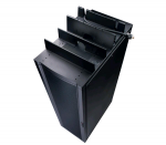 Cable shielding partition - black - for NetShelter EP; NetShelter ES; NetShelter SX; Netshelter VX; NetShelter WX