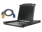 KVM console with KVM switch - 8 ports - 17 inch - rack-mountable - 1280 x 1024 - 250 cd/m2 - VGA