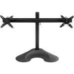 Dual LCD Monitor Desk Stand - 16 inch pole - Black - Dual