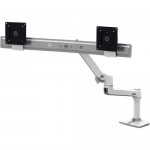 LX Desk Dual Direct Arm - Mounting kit (articulating arm desk clamp mount 2 pivots mounting hardware hinge extension part) for 2 LCD displays - aluminum - polished aluminum - screen size: up to 32 inch - desktop