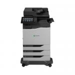 CX825dtfe - Multifunction printer - color - laser - Legal (8.5 in x 14 in) /A4 (8.25 in x 11.7 in) (original) - A4/Legal (media) - up to 52 ppm (copying) - up to 52 ppm (printing) - 1750 sheets - 33.6 Kbps - USB 2.0 Gigabit LAN USB host