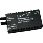 Stand-Alone Mini 10/100 Bridging - Fiber media converter - 100Mb LAN - 10Base-T 100Base-FX 100Base-TX - RJ-45 / SC single-mode - up to 12.4 miles - 1310 nm