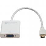 Multimedia IO Crest Mini HDMI Male to VGA Female Adapter - HDMI/VGA for Video Device - 6.90 inch - 1 x HDMI (Mini Type C) Male Digital Audio/Video - 1 x HD-15 Female VGA - White