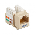 Box CAT5e Value Line Keystone Jack Ivory - 1 x RJ-45 Female - Gold-plated Contacts - Ivory