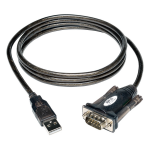 5ft USB to Serial Adapter Cable USB-A to DB9 RS-232 M/M 5 feet - Serial adapter - USB - RS-232