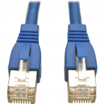 3ft Augmented Cat6 Cat6a Shielded 10G Patch Cable RJ45 M/M Blue 3 - Patch cable - RJ-45 (M) to RJ-45 (M) - 3 ft - STP - CAT 6a - snagless stranded - blue - for P/N: N238-001-WH-6A N253-024-RBGY N254-024-SH-6AD N254-024-SH-D N254-048-SH-6A