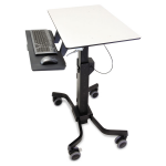 TeachWell Mobile Digital Workspace - Cart for notebook / keyboard / mouse - steel phenolic composite powder-coated steel high-grade plastic - graphite gray