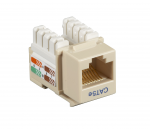 Box CAT5e Value Line Keystone Jack Ivory 25-Pack - 25 Pack - 1 x RJ-45 Female - Gold-plated Contacts - Ivory