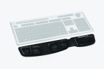 Keyboard Palm Support with Microban Protection - 3.4 inch x 18.3 inch x 0.6 inch Dimension - Black - Gel Polyurethane