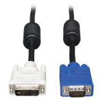 Lite DVI to VGA Monitor Cable High Resolution cable with RGB Coax - (DVI-A M to HD15 M) 10-ft.