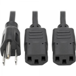 DUAL SPLITTER CABLE 5-15P TO 2X C13 18IN