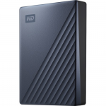WD TDSourcing My Passport Ultra WDBFTM0040BBL - Hard drive - encrypted - 4 TB - external (portable) - USB 3.0 (USB-C connector) - 256-bit AES - blue