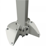 Mounting component (mounting base) - steel - gray - floor-standing - for ARMS