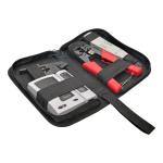 4-Piece Network Installer Tool Kit with Carrying Case RJ11 RJ12 RJ45 - Network tool/tester kit