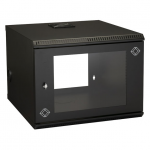 8U WALLMOUNT CABINET 22INW X 23 .6IND M6 SQUARE HOLES 50-LB. CAPACI