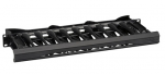 HORIZONTAL 19IN IT RACKMOUNT CA BLE MANAGER 1U SINGLE-SIDED BLACK