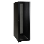 42U SMARTRACK SHALLOW-DEPTH RACK ENCLOSURE CABINET THREADED 10-32 MOUNTING HOLES WITH DOORS & SIDE PANELS