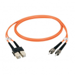 1M (3.2FT) SCLC OR OM1 MM FIBER PATCH CABLE INDR ZIP OFNR