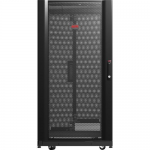 Schneider Electric NetShelter SX Rack Cabinet - 19 inch 24U Wide Floor Standing for Server - Black - 2254.73 lb x Dynamic/Rolling Weight Capacity - 3006.31 lb x Static/Stationary Weight Capacity