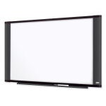 Wide Screen Style Melamine Dry Erase Board - 48 inch Width x 36 inch Height - Surface - Graphite Frame - Film - 1 / Each