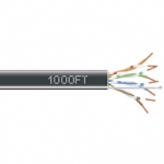1000-FT BLACK CAT5E SOLID CABLE 350MHZ UTP CMP