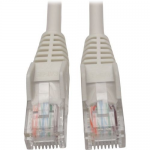 CAT5E 350MHZ SNAGLESS MOLDED PATCH CABLE (RJ45 M/M) - WHITE 6-FT.