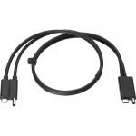Combo - Thunderbolt cable - 2.3 ft - black - promo - for EliteBook x360 ZBook Create G7 Studio G7 ZBook Firefly 14 G7 ZBook Fury 15 G7 17 G7