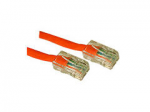 25FT CAT5E NON-BOOTED CROSSOVER UNSHIELDED (UTP) NETWORK PATCH CABLE - ORANG