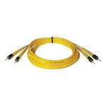 2M Duplex Singlemode 8.3/125 Fiber Optic Patch Cable ST/ST 6 feet 6ft 2 Meter - Patch cable - ST single-mode (M) to ST single-mode (M) - 6.6 ft - fiber optic - 8.3 / 125 micron - riser - yellow