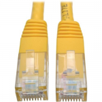 Premium Cat5/Cat5e/Cat6 Gigabit Molded Patch Cable, 24 AWG, 550 MHz/1 Gbps (RJ45 M/M) , Yellow, 50 ft. - Patch cable - RJ-45 (M) to RJ-45 (M) - 50 ft - UTP - CAT 6 - IEEE 802.3ab/IEEE 802.5 - molded, solid - yellow