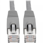 Cat6a 10G-Certified Snagless Shielded STP Network Patch Cable (RJ45 M/M)  PoE Gray 10 ft. - Patch cable (DTE) - RJ-45 (M) to RJ-45 (M) - 10 ft - STP - CAT 6a - IEEE 802.3af - molded snagless stranded - gray