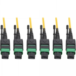 MTP/MPO (APC) Singlemode Slim Trunk Cable 24-Strand 40/100 GbE 40/100GBASE-PLR4 Plenum 6mm Dual Jacket 45 m (147 ft.) - Trunk cable - MTP/MPO single-mode (F) to MTP/MPO single-mode (F) - 45 m - fiber optic - 8.3 / 125 micron - plenum stranded - yel