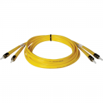 5M DUPLEX SINGLEMODE 8.3/125 FIBER OPTIC PATCH CABLE ST/ST 1 16FT 5 METER