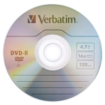 DVD-R 4.7GB 16X with Branded Surface - 10pk Box - 120mm - 2 Hour Maximum Recording Time
