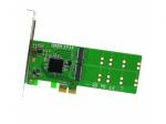 4 Port M.2 to PCI-e x2 B or B+M Key Adapter Card Retail
