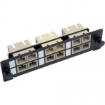 Toolless Pass-Through Fiber Patch Panel MMF/SMF 6 SC Connectors - Patch panel - SC X 6 - black