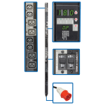 PDU 3-Phase Switched 240V 17.3kW 12 C13 12 C19 IEC309 30A Red 415V Input 6ft Cord 0U Vertical - Vertical rackmount - power distribution unit (rack-mountable) - 24 A - AC 415 V - 17.3 kW - 3-phase - Ethernet 10/100 - input: IEC 60309 30A - output connector