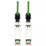 Lite SFP+ 10Gbase-CU Passive Twinax Copper Cable Green 3M (10-ft.) - Twinaxial for Network Device - 9.84 ft - 1 x SFF-8431 Male SFP+ - 1 x SFF-8431 Male SFP+ - Green