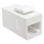 CAT6A STRAIGHT THROUGH MODULAR IN LINE SNAP IN COUPLER RJ45 TAA