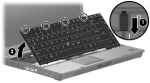 Keyboard with point stick (Latin America)