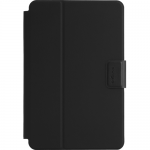 Safe Fit Rotating Universal - Flip cover for tablet - polyurethane - black - 8 inch