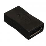 Lite Compact DisplayPort Coupler Gender Changer (F/F) - 1 x DisplayPort Female Digital Audio/Video - 1 x DisplayPort Female Digital Audio/Video - Gold-plated Contacts - Black