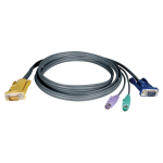 25ft PS/2 Cable Kit for KVM Switch 3-in-1 B020 / B022 Series KVMs 25 - Keyboard / video / mouse (KVM) cable - HD-15 (VGA) (M) to PS/2 HD-15 (VGA) (M) - 25 ft - molded - black - for Tripp Lite 2-Port 4-Port 8-Port