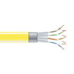 CAT6 250MHZ STRANDED CABLE SC/FTP CMR YELLOW