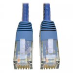 Cat6 Gigabit Molded Patch Cable RJ45 M/M 550MHz 24 AWG Blue 100 feet - Patch cable - RJ-45 (M) to RJ-45 (M) - 100 ft - UTP - CAT 6 - IEEE 802.3ab/IEEE 802.5 - molded solid - blue