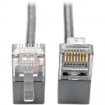 Cat6 Gigabit Patch Cable Snagless Right-Angle UTP Slim Gray 1ft - Patch cable - RJ-45 (M) right-angled to RJ-45 (M) right-angled - 1 ft - UTP - CAT 6 - molded snagless stranded - gray