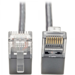 CAT6 GIGABIT PATCH CABLE SNAGLESS RIGHT-ANGLE UTP SLIM GRAY 2FT