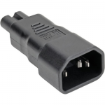 C14 TO C7 POWER CORD ADAPTER - 10A 250V BLACK