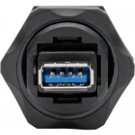 USB 3.0 COUPLER SUPERSPEED 3.0/3.1 INDUSTRIAL - USB-A F/F SHIELDED IP68 DU