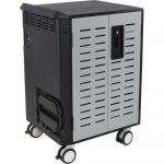 Zip40 Charging Cart - Cart for 40 tablets / notebooks - steel - black silver - screen size: up to 15.6 inch